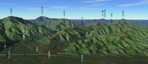 天円山鳥瞰図