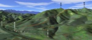 高尾山から1km